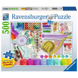 Ravensburger 500 pc Large Puzzle Needlework Station