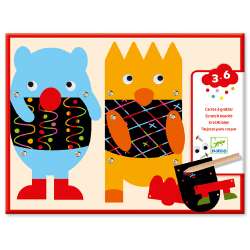 Djeco - Scratch cards - Scratch the little monsters