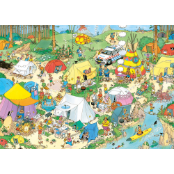JVH Puzzle 1000 pcs Camping in the Forest