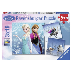 Ravensburger Disney Frozen - Winter Adventures 3 X 49pc puzzle